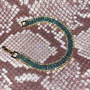 NWT Topaz & White Sapphire Gold Fashion Bracelet